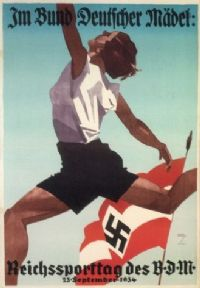 Vintage German poster - Reich sports day for the League of German Maidens (1934)